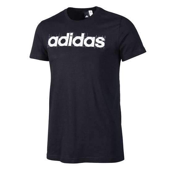 Adidas T-Shirt LINEAR Schwarz