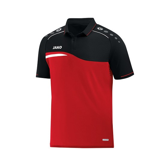 Jako Poloshirt Competition 2.0 rot/schwarz