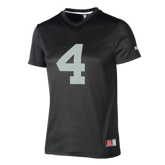 Majestic Athletic Las Vegas Raiders PolyMesh T-Shirt Carr Nr 4 schwarz