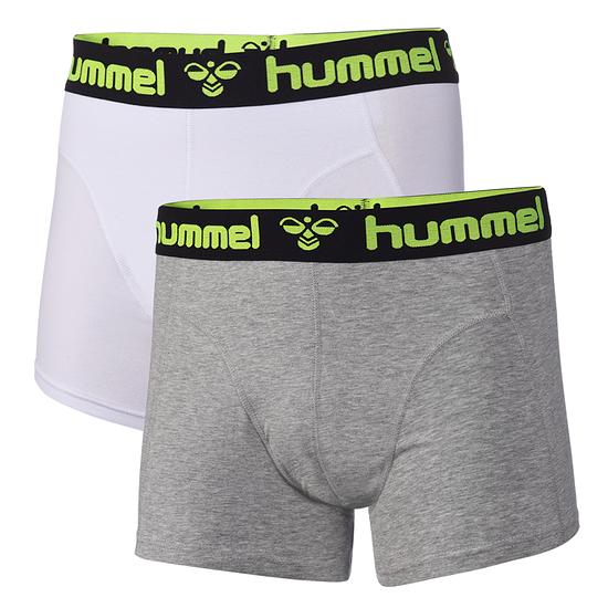 hummel Boxershorts HMLMARS 2er Pack grau/weiß