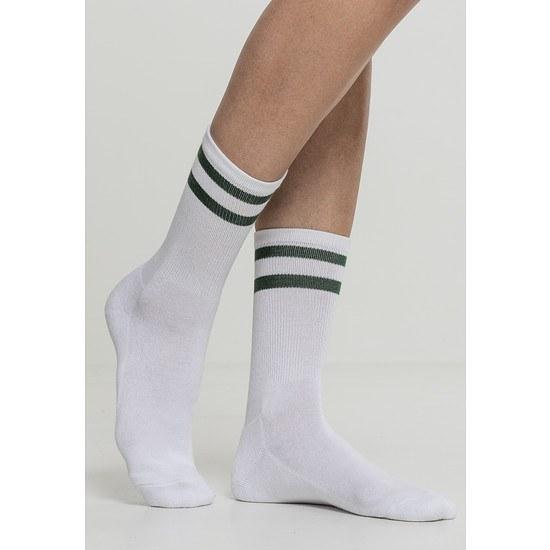 URBAN CLASSICS Socken 2-Stripe 2er-Pack weiß/grün