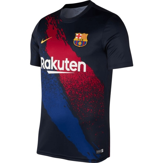Nike FC Barcelona T-Shirt Training 2019/2020 Blau/Rot