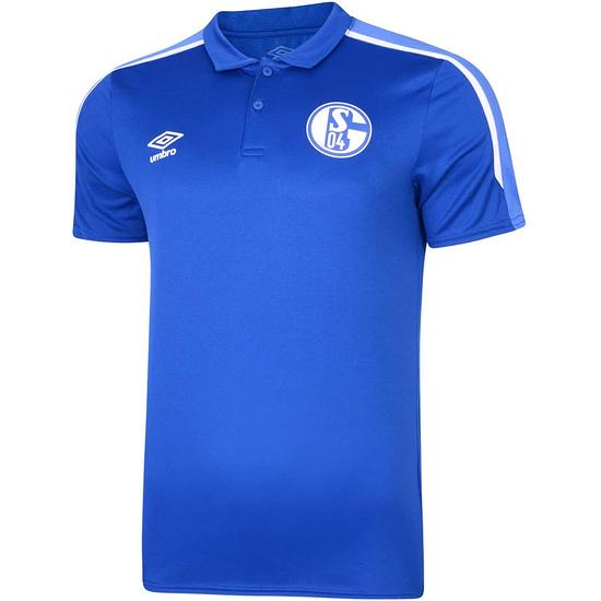 Umbro FC Schalke 04 Poly Poloshirt Classic Blau