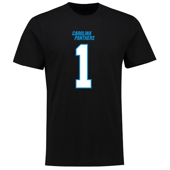 Majestic Athletic Carolina Panthers T-Shirt N&N Newton No 1 schwarz