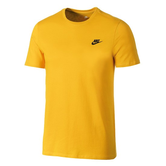 Nike T-Shirt Club Futura Gelb/Schwarz