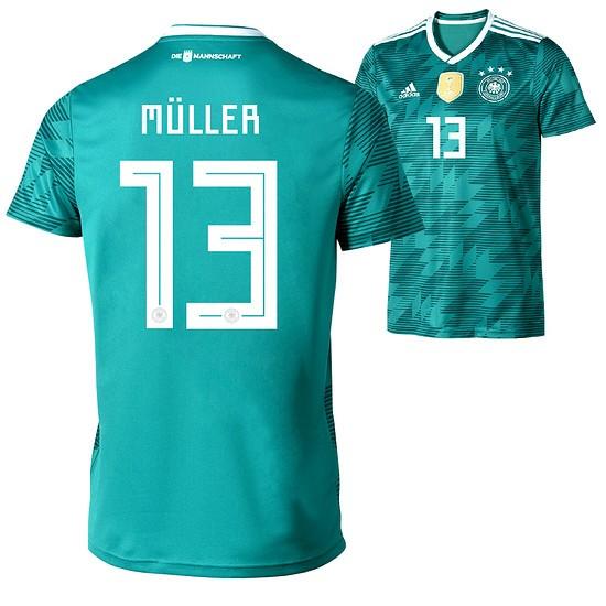 Adidas Deutschland WM 2018 DFB Trikot Auswärts MÜLLER Kinder