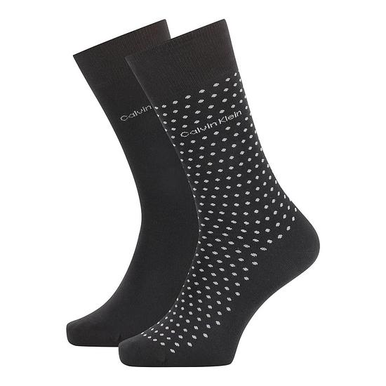 Calvin Klein Socken 2er Pack CREW FELIX DOT Schwarz