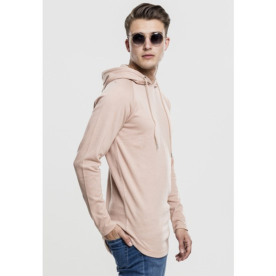 URBAN CLASSICS Hoodie Long Shaped Terry rosa