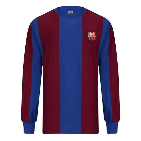 Scoredraw FC Barcelona Retro Trikot 1974 Longsleeve