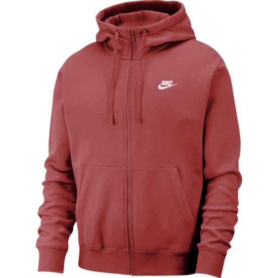 Nike Kapuzensweatjacke Sportswear Club Fleece Rot