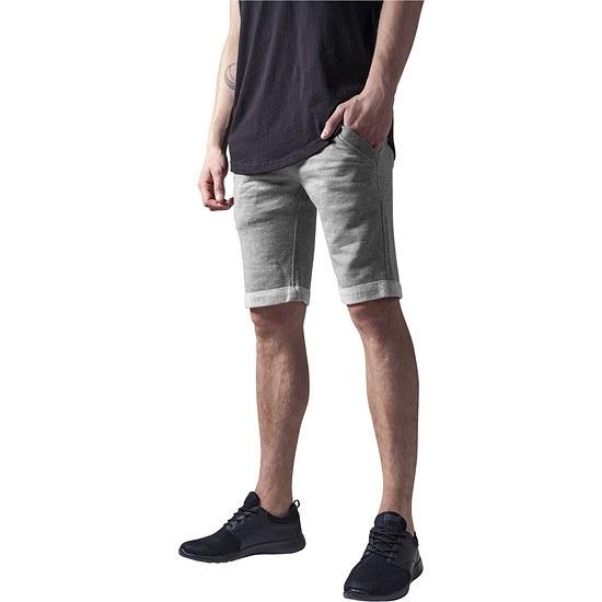 URBAN CLASSICS Shorts Light Turnup grau