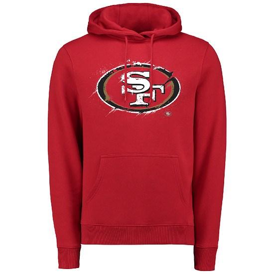 Majestic Athletic San Francisco 49ers Hoodie Splatter lila