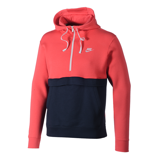 Nike Hoodie Sportswear Club Fleece Rot/Blau