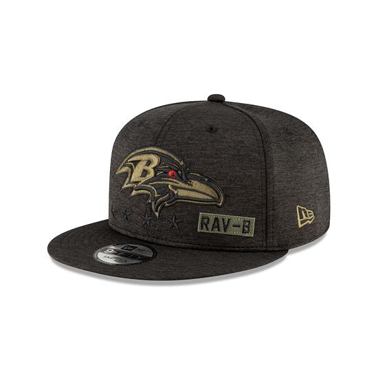 New Era Baltimore Ravens Cap Salute To Service 2020 9FIFTY schwarz