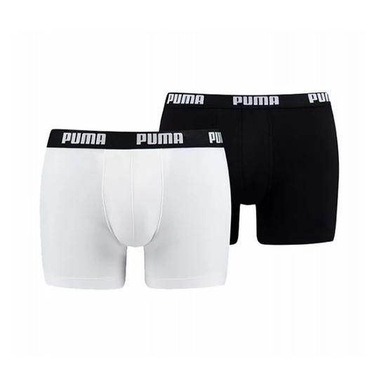 Puma Boxershorts 2er Pack Retropants Schwarz/Weiß