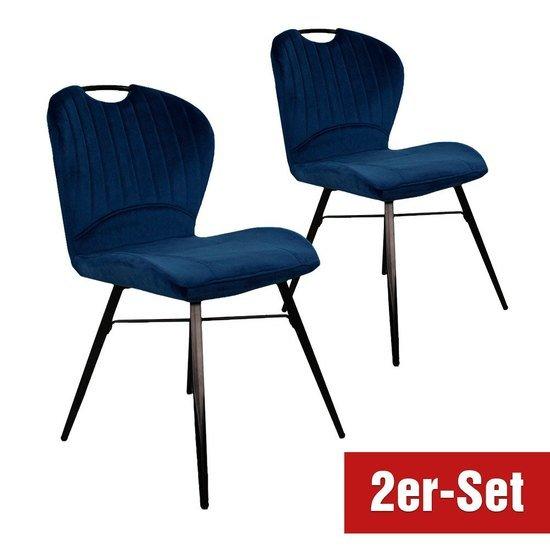 BREAZZ Stuhl Valasca 2er Set blau