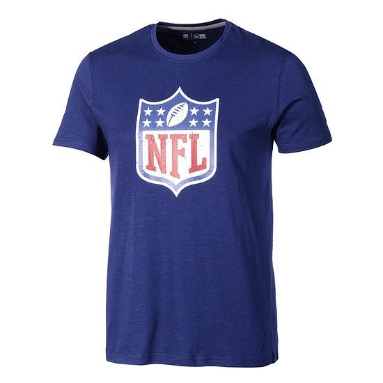 New Era NFL Shield T-Shirt Lightweight Cotton Blau