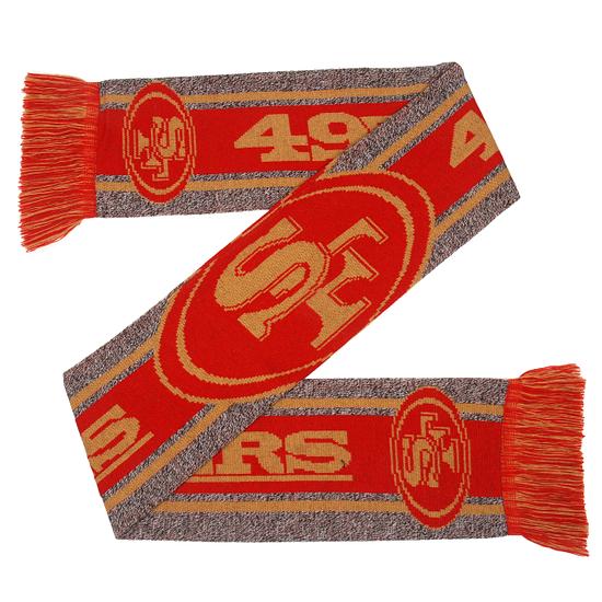 Forever Collectibles San Francisco 49ers Schal Big Logo Gray rot