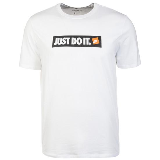 Nike T-Shirt BIG LOGO - JUST DO IT Weiß