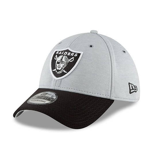 New Era Las Vegas Raiders Cap 39THIRTY Sideline Home grau/schwarz