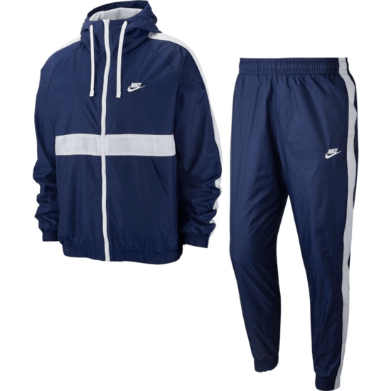 Nike Trainingsanzug Hooded Blau