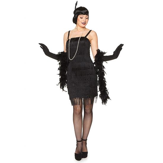 Karnevals- Kostüm 20er Jahre Charleston Damen schwarz