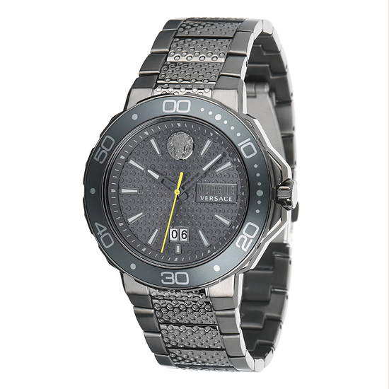 Versus by Versace Herrenuhr Quarz Kalk Bay Edelstahl Armband Grau
