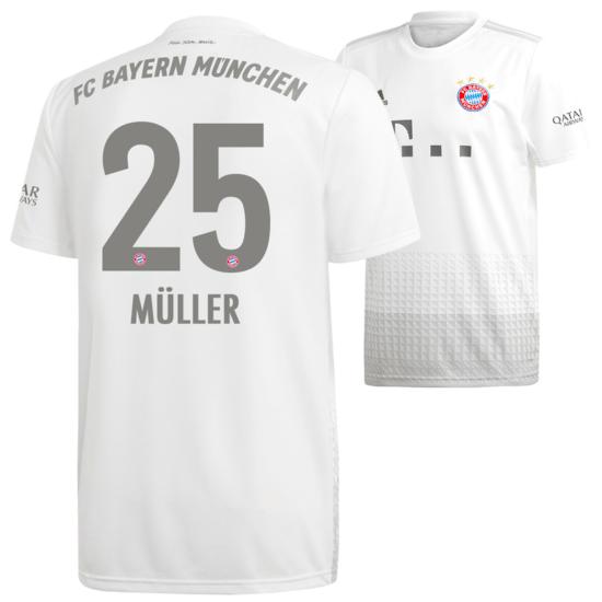 Adidas FC Bayern München Auswärts Trikot MÜLLER 2019/2020