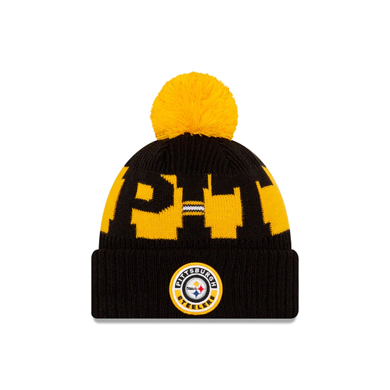 New Era Pittsburgh Steelers Beanie On Field Sport Knit schwarz