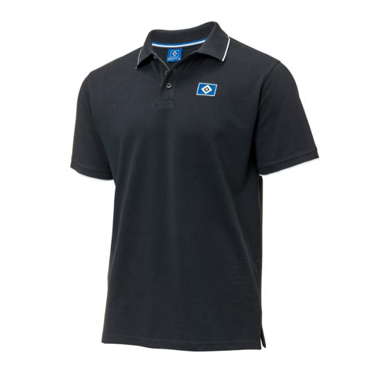 Hamburger SV Poloshirt Raute Schwarz
