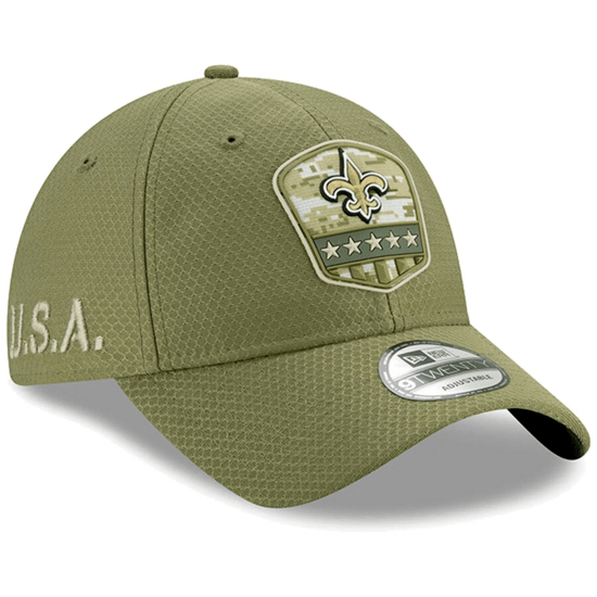New Era New Orleans Saints Cap Salute To Service 9TWENTY oliv