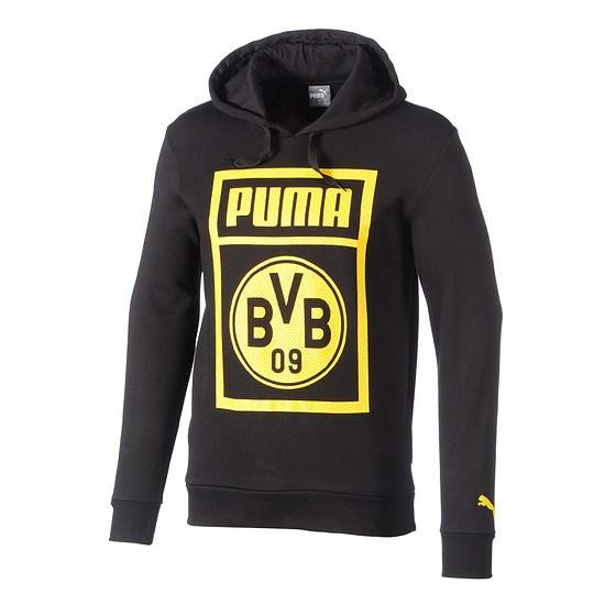 Puma Borussia Dortmund Hoodie Shoe Tag schwarz