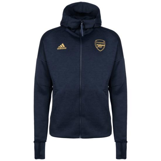 Adidas FC Arsenal Kapuzenjacke Z.N.E. dunkelblau/gold