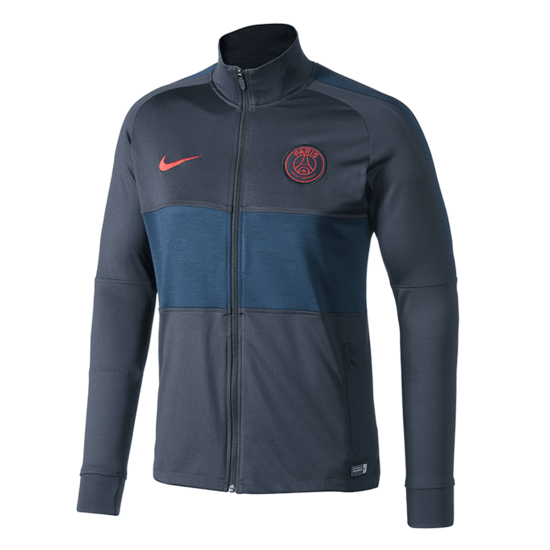 Nike Paris Saint-Germain Trainingsjacke Balken Grau