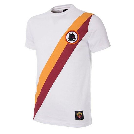 Copa AS Rom Short Sleeve Retro Shirt Away