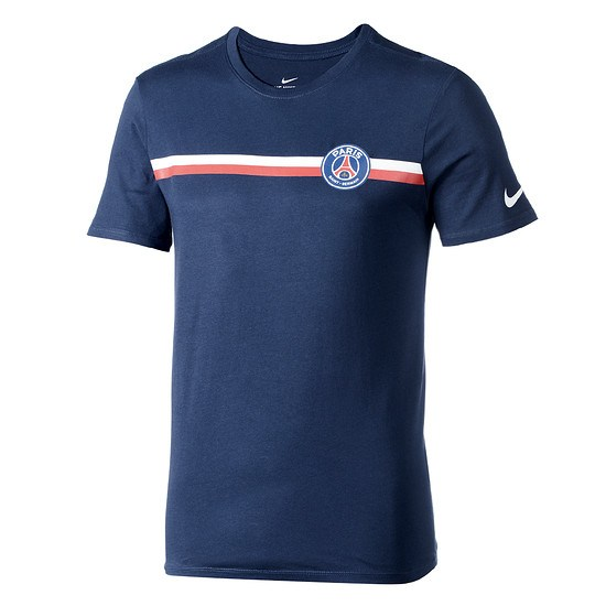 Nike Paris Saint-Germain T-Shirt Logo Blau