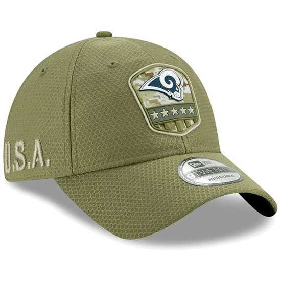 New Era Los Angeles Rams Cap Salute To Service 9TWENTY oliv