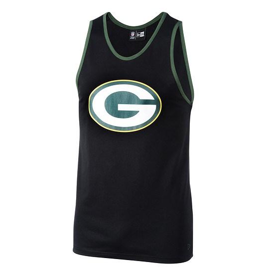 New Era Green Bay Packers Tanktop Dryera schwarz