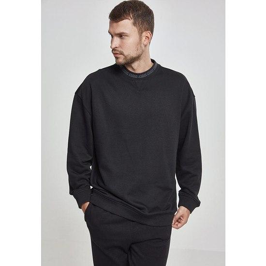 URBAN CLASSICS Sweatshirt Oversize Logo schwarz