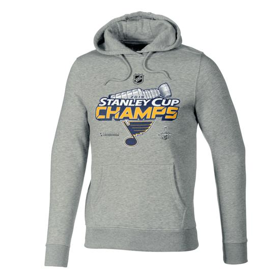 Fanatics St. Louis Blues Stanley Cup Winner 2019 Hoodie Grau