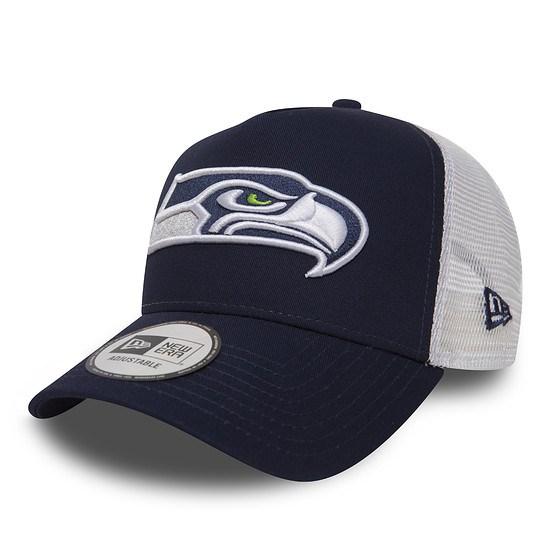 New Era Seattle Seahawks Cap Trucker Essential blau