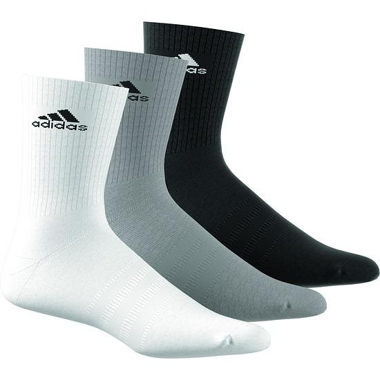 Adidas Sportsocken Team 3er Pack Schwarz/Grau/Weiß