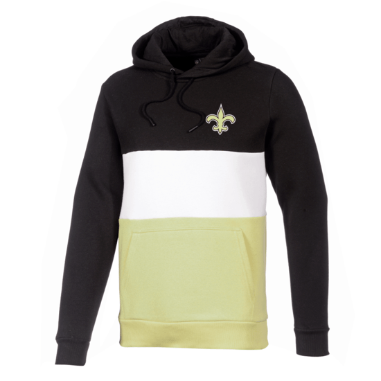 New Era New Orleans Saints Hoodie Colourblock schwarz/weiß/gold