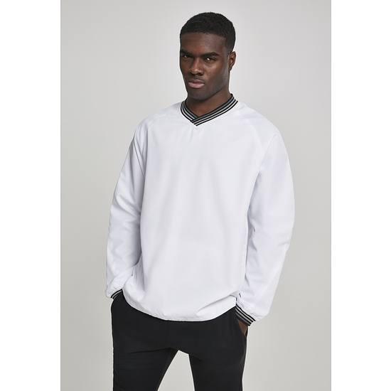 URBAN CLASSICS Pullover Warm Up weiß/grau