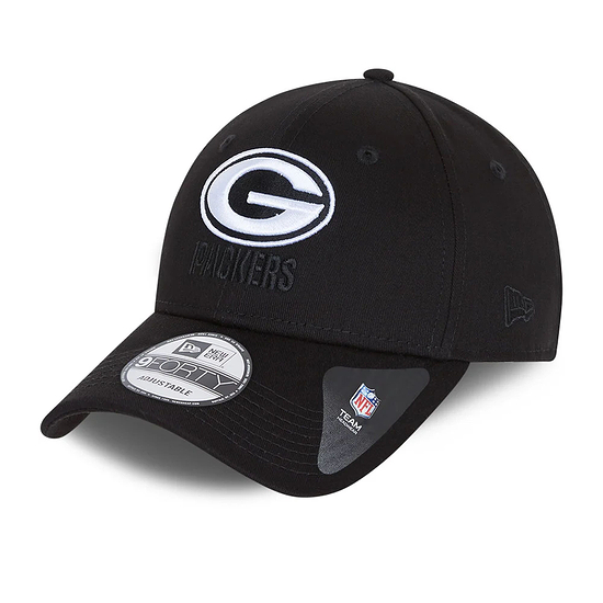 New Era Green Bay Packers Cap Black Base 9FORTY schwarz