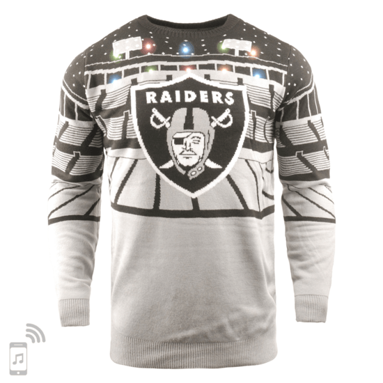Forever Collectibles Oakland Raiders Ugly Sweater Bluetooth grau/schwarz