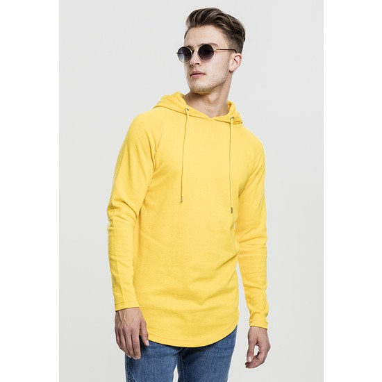 URBAN CLASSICS Hoodie Long Shaped Terry gelb