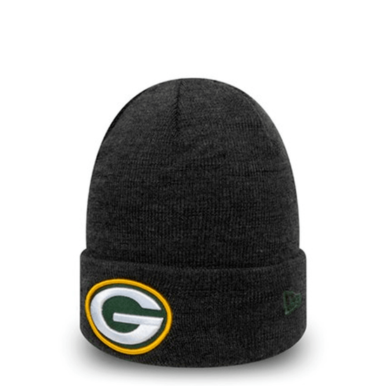 New Era Green Bay Packers Beanie Heather Established grau