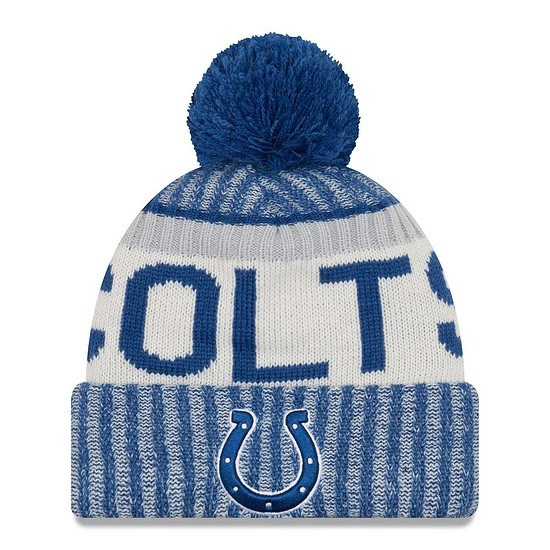 New Era Indianapolis Colts Beanie Sideline Knit blau/silber