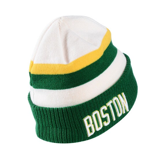New Era Boston Celtics Beanie Knit weiß